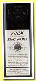 Rhum des Plantations St James 1885 (OB, Martinique, French import Ernest Lambert, imported 1950s)
