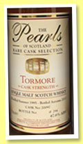 Tormore 18 yo 1995/2013 (47.6%, Pearls of Scotland, 294 bottles)