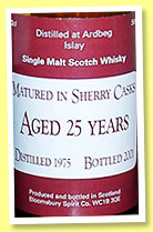 Ardbeg 25 yo 1974/2001 (58%, Bloomsbury Spirit, Japan, sherry cask)
