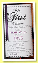 Blair Athol 20 yo 1993/2013 (59.1%, The First Editions, sherry butt, cask #ES9990, 541 bottles)