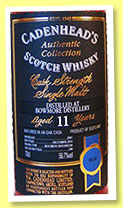 Bowmore 11 yo 2003/2014 (58.7%, Cadenhead, Authentic Collection, bourbon hogshead, 240 bottles)