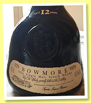 Bowmore 12 yo 'Bicentenary' (43%, OB, for Germany, 1979)