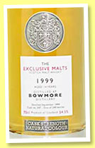 Bowmore 14 yo 1999 (54.5%, Exclusive Malts, bourbon, 347 bottles)
