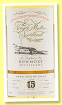Bowmore 15 yo 1999/2014 (56.4%, The Single Malts of Scotland, bourbon, cask #800215, 266 bottles)