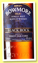 Bowmore 'Black Rock' (40%, OB, travel retail, +/-2015)