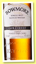 Bowmore 'Gold Reef' (43%, OB, travel retail, +/-2015)