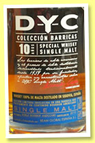 D.Y.C. 10 yo (40%, OB, Spain, single malt, +/-2013)