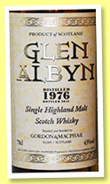 Glen Albyn 1976/2012 (43%, Gordon & MacPhail, licensed bottling)