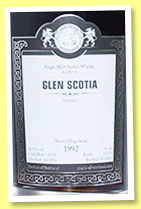 Glen Scotia 1992/2013 (56.3%, Malts of Scotland, sherry hogshead, cask #MoS 13032, 175 bottles)