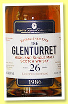 Glenturret 26 yo 1986 (46.8%, Hunter Laing, bourbon hogshead, small batch, +/-2013)