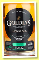 Goldlys 12 yo (43%, OB, Filliers distillery, single malt, Oloroso cask finish, cask #2632, +/-2014)