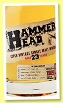 Hammer Head 23 yo 1989 (40.7%, OB, Czech Republic, single malt, +/-2013)