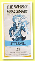 Littlemill 21 yo 1996/2014 (52.9%, The Whisky Mercenary, bourbon cask)