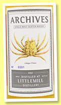 Littlemill 22 yo 1992/2014 (46.7%, Archives, hogshead, cask #43, 59 bottles)