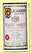 Peated Amrut (58.1%, Blackadder, cask #BA19/2014, 138 bottles, 2014)