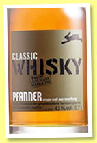 Pfanner 'Classic' (43%, OB, Austria, single malt, +/-2014)