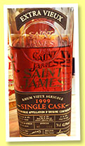 Saint James 1999/2011 (42.9%, OB, Martinique, agricole, American oak, cask #294-10-99)