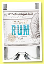 St. George 'California Agricole Rum' (43%, OB, California, Harvested 2014)