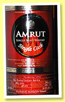 Amrut 2009/2014 (56.5%, OB, India, for Taiwan, Indian barley, PX, cask #2702, 360 bottles)