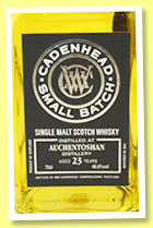 Auchentoshan 23 yo 1992/2015 (46.6%, Cadenhead, Small Batch)