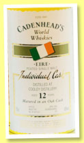 Cooley 12 yo 1992/2004 (60%, Cadenhead, World Whiskies, bourbon barrel, 234 bottles)