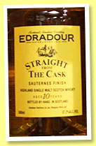 Edradour 10 yo1993/2004 (57.2% OB, Straight From The Cask, Sauternes finish)
