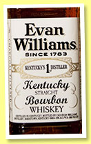 Evan Williams 'White Label' (50%, OB, USA, bourbon,  +/-2015)