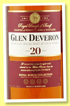 Glen Deveron 20 yo (40%, OB, Royal Burgh Collection, travel retail, 1l, +/-2015)