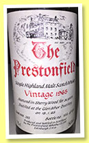 Glen Mohr 26 yo 1965 (56%, The Prestonfield, cask #202, 1200 bottles, +/-1991)