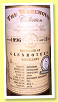 Glenrothes 18 yo 1996/2014 (56.1%, The Warehouse Collection, bourbon hogshead, cask #3140, 274 bottles)