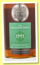 Ireland 13 yo 2002/2015 (52.2%, Exclusive Malts, 10th Anniversary, cask #20021, 336 bottles)