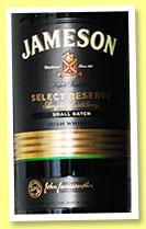 Jameson 'Select Reserve' (40%, OB, Irish blend, small batch, batch #JQ-058548, +/-2014)