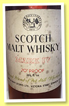 Mark IV (70° proof, Army & Navy Stores, blended malt, 1960s)
