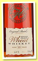 Parker's 13 yo 'Heritage Collection' (63.4%, OB, straight wheat whiskey, 2014)