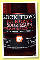Rock Town 'Four Grain Sour Mash Bourbon' (46%, OB, Arkansas, USA, +/-2015)