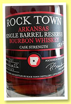 Rock Town 'Single Barrel Bourbon' (56.8%, OB, USA, Arkansas, barrel #241, +/-2015)