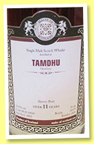Tamdhu 11 yo 2002/2014 (54.9%, Malts of Scotland, sherry butt, cask #MoS 14016, 679 bottles)