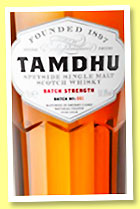 Tamdhu 'Batch Strength' (58.8%, OB, 2015)