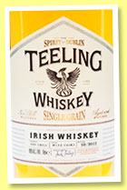 Teeling 'Single Grain' (46%, OB, Irish grain, wine casks, 2013)