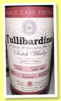 Tullibardine 1965/2008 'Single Cask Edition' (48.3%, OB, hogshead, cask #939, 164 bottles)