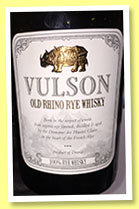 Vulson 'Old Rhino Rye Whisky' (45%, OB, Domaine des Hautes Glaces, France, 2015)