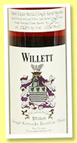 Willett 20 yo 'Family Estate' (54.3%, OB, straight Kentucky bourbon, cask #321, 137 bottles)