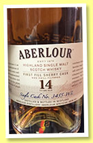 Aberlour 14 yo (48%, OB, for The Whisky Lodge Lyon, first fill sherry, cask #3455-WL, 2015)