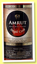 Amrut 4 yo 2011/2015 (59%, OB for Whisky-L Taiwan, Port pipe, cask #2714-A, 380 bottles)