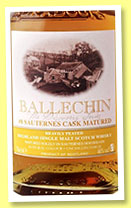 Ballechin 'Sauternes Cask Matured' (46%, OB, 2015)