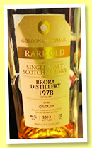 Brora 1978/2013 (46% Gordon & MacPhail, Rare Old, lot #RO/13/05)
