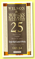 Caol Ila 25 yo 1990/2015 (54.3%, Wilson & Morgan, Barrel Selection, oloroso finish, casks #4707-4708, 408 bottles)