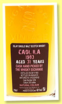 Caol Ila 31 yo 1983/2015 (48.1%, Signatory Vintage for The Whisky Exchange, cask #5294, 255 bottles)