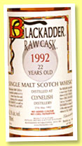 Clynelish 22 yo 1992/2014 (62.1%, Blackadder, Raw Cask, hogshead, 190 bottles)
