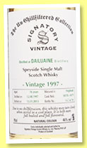Dailuaine 16 yo 1997/2013 (46%, Signatory Vintage, Un-chillfiltered Collection, casks #10178-10179, 739 bottles)